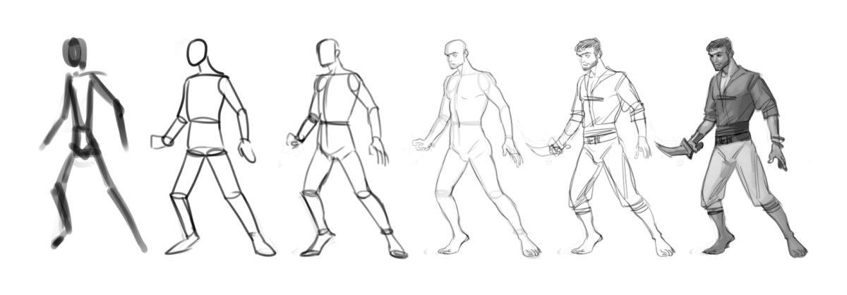 comment dessiner un corps humain